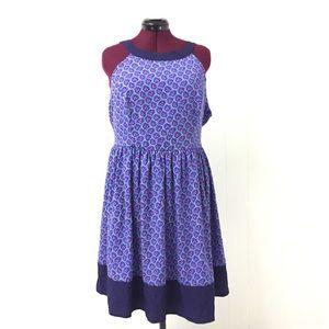 2XL MODCLOTH Blue Floral Apron Dress